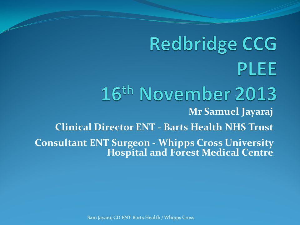 Redbridge CCG PLEE 16th November 2013