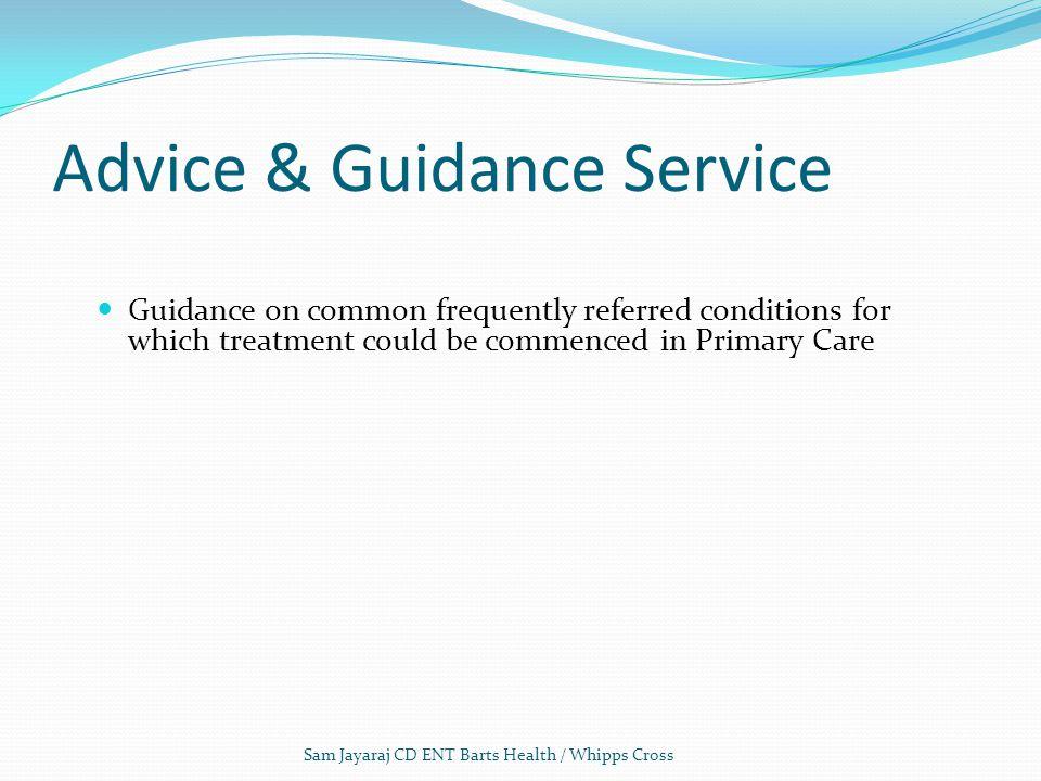 Advice & Guidance Service