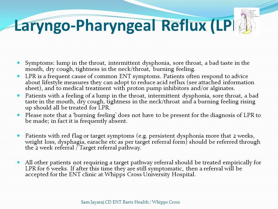 Laryngo-Pharyngeal Reflux (LPR)