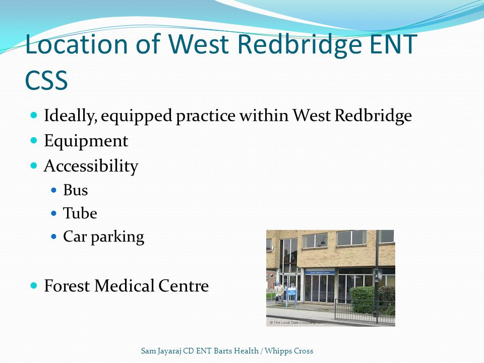 Location of West Redbridge ENT CSS
