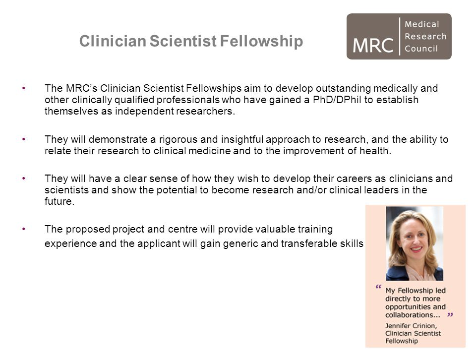 Clinician Scientist Fellowship