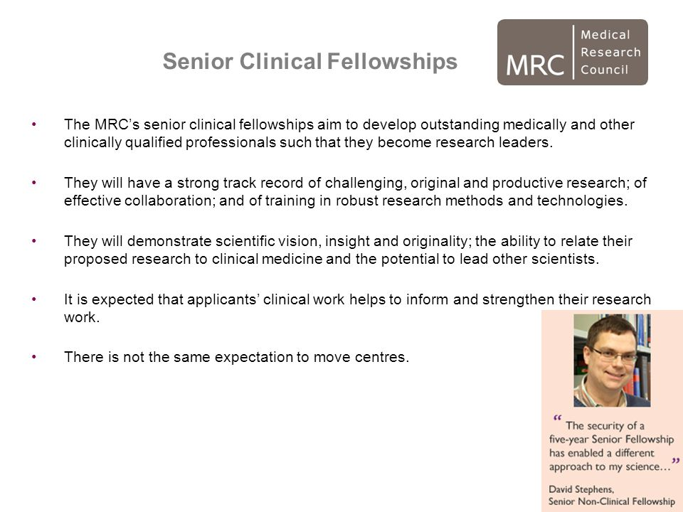 Senior Clinical Fellowships