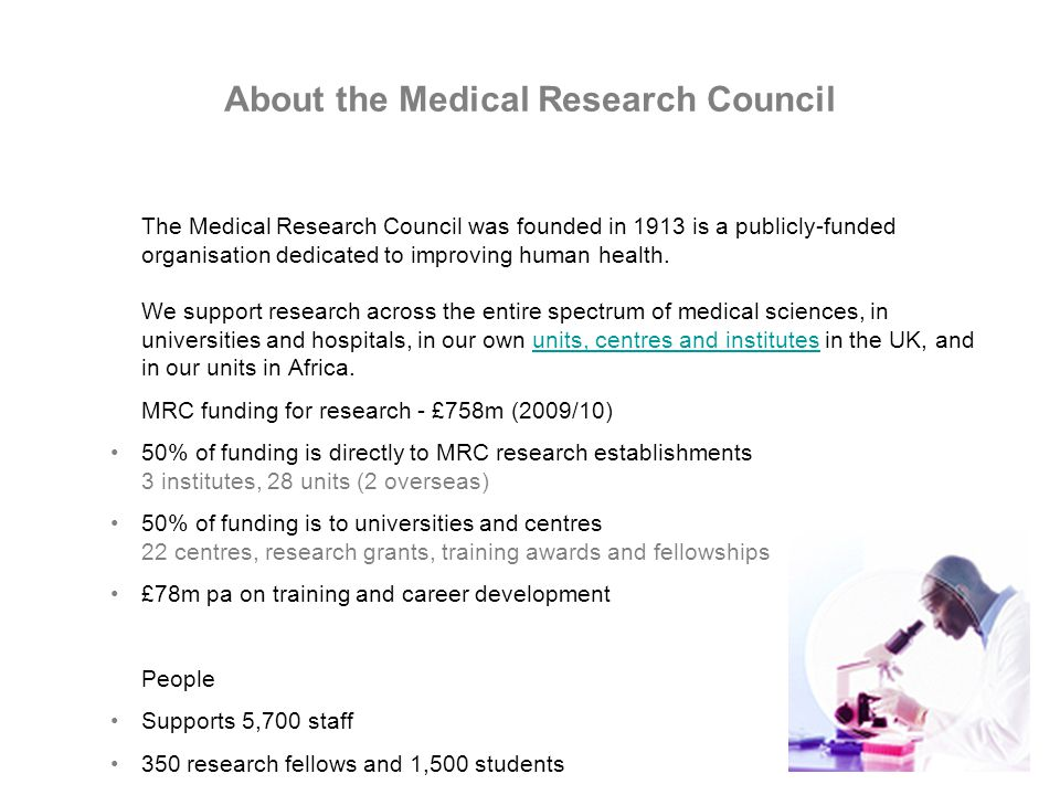 About the Medical Research Council