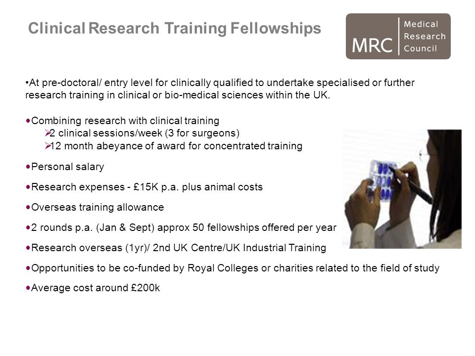 Clinical Research Training Fellowships