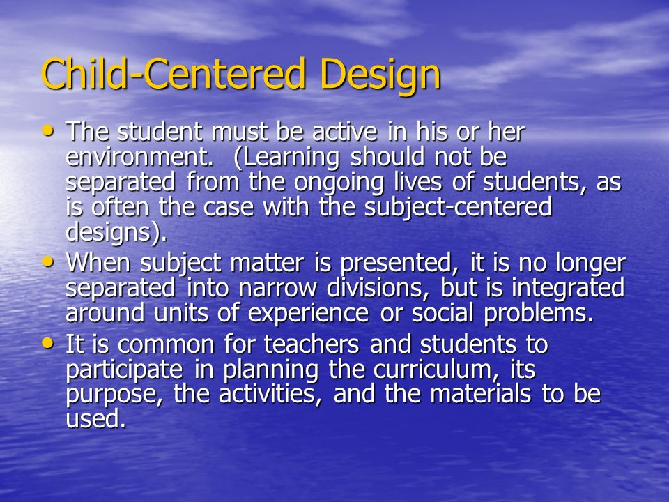 Child-Centered Design