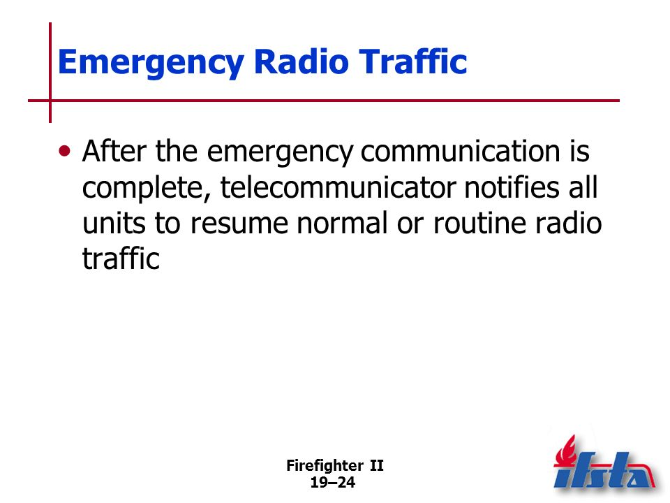 Emergency Radio Traffic