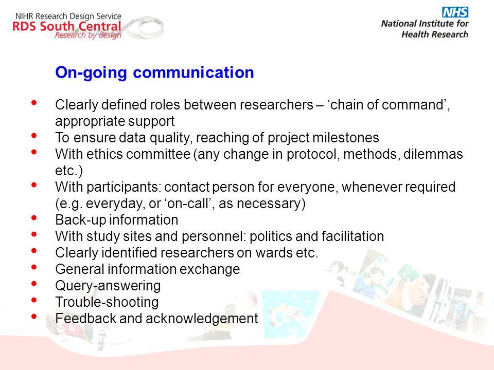 On-going communication