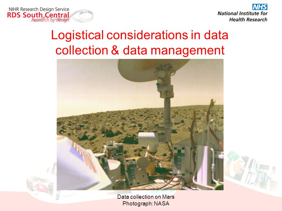 Logistical considerations in data collection & data management