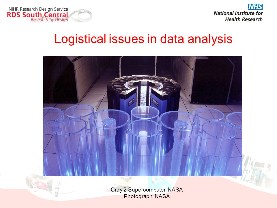 Logistical issues in data analysis