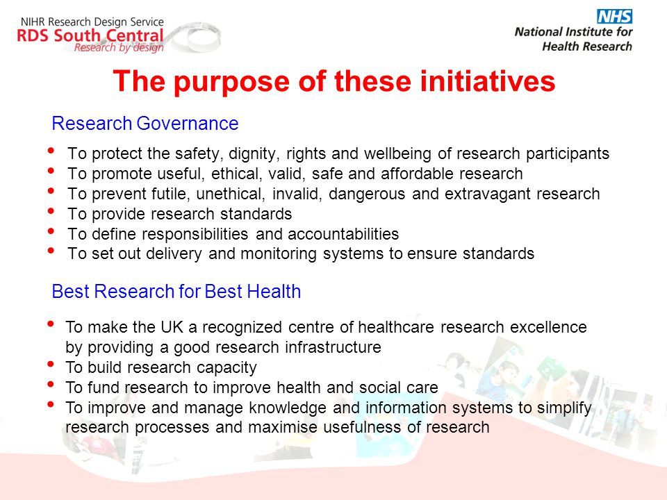 The purpose of these initiatives