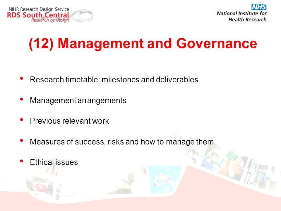 (12) Management and Governance