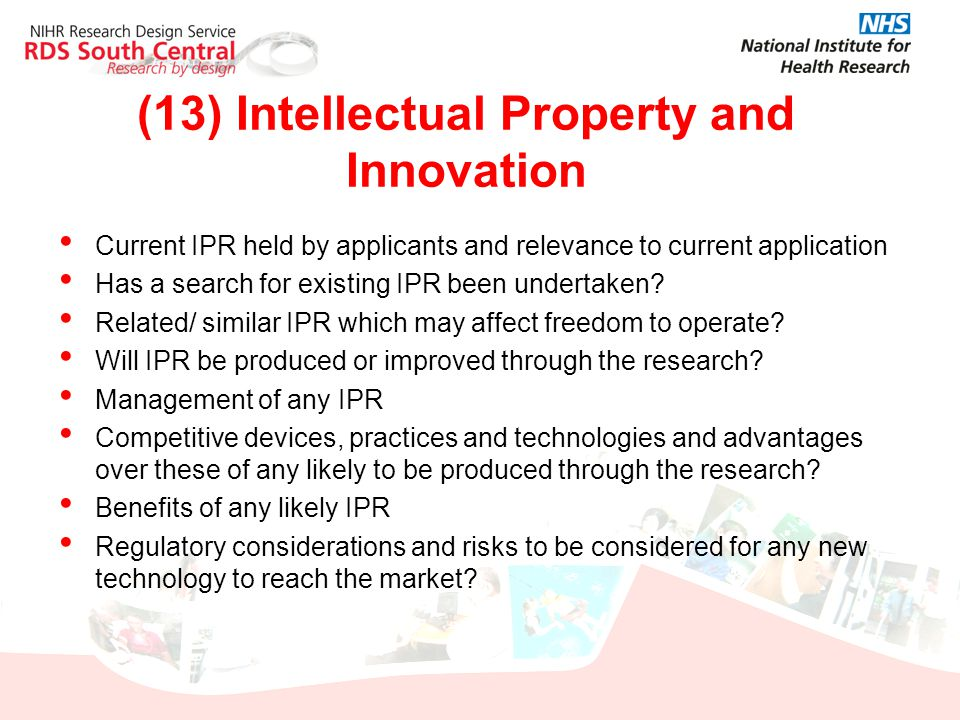 (13) Intellectual Property and Innovation