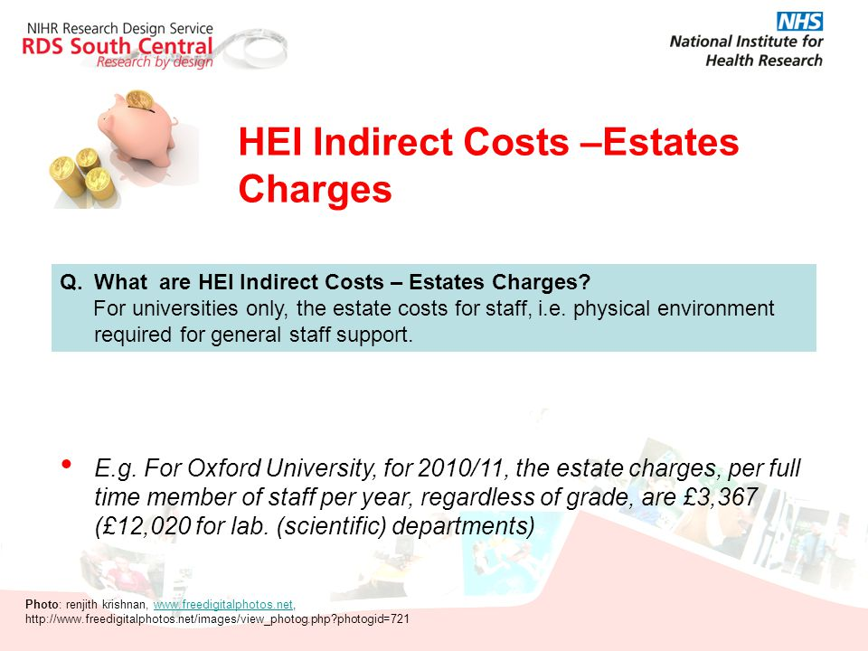 HEI Indirect Costs –Estates Charges