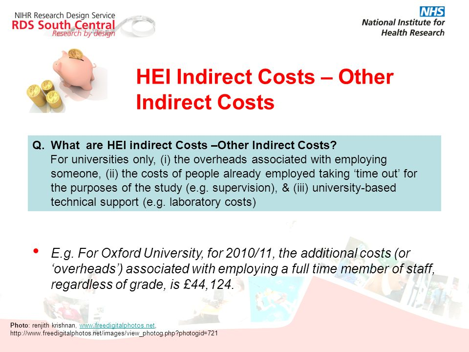 HEI Indirect Costs – Other Indirect Costs