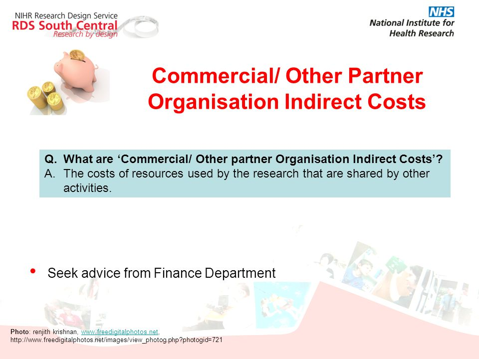 Commercial/ Other Partner Organisation Indirect Costs