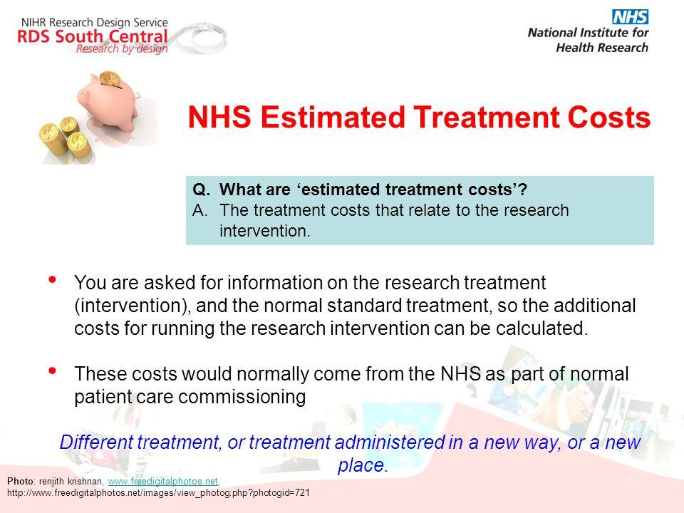 NHS Estimated Treatment Costs