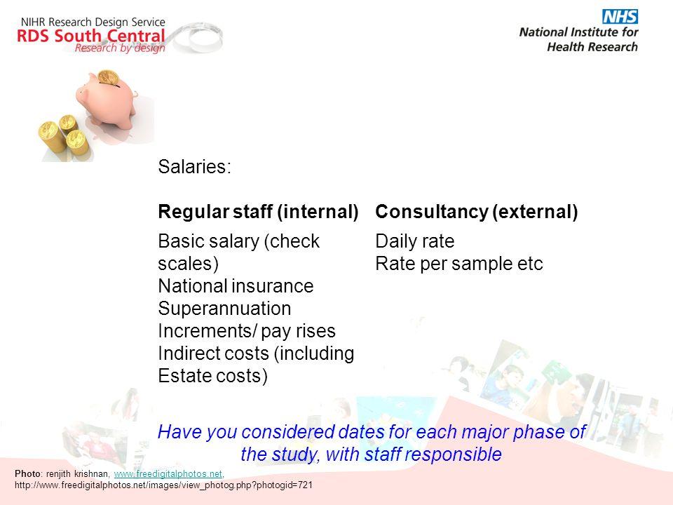 Regular staff (internal) Consultancy (external)
