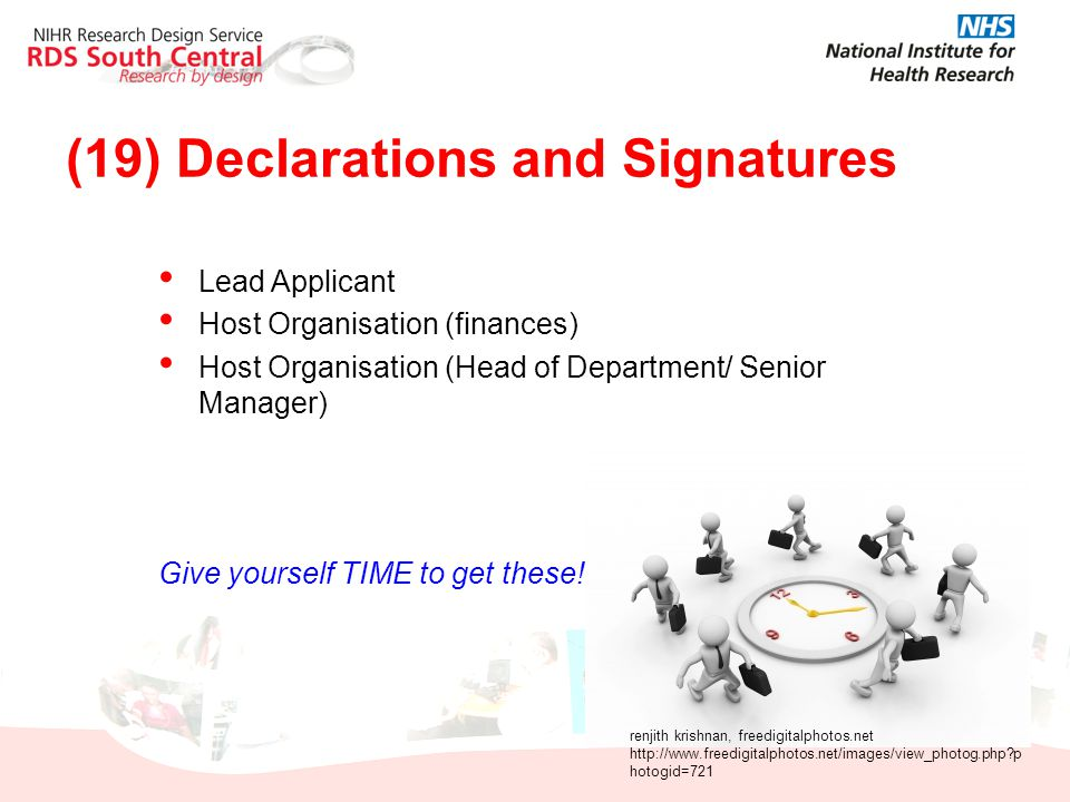 (19) Declarations and Signatures