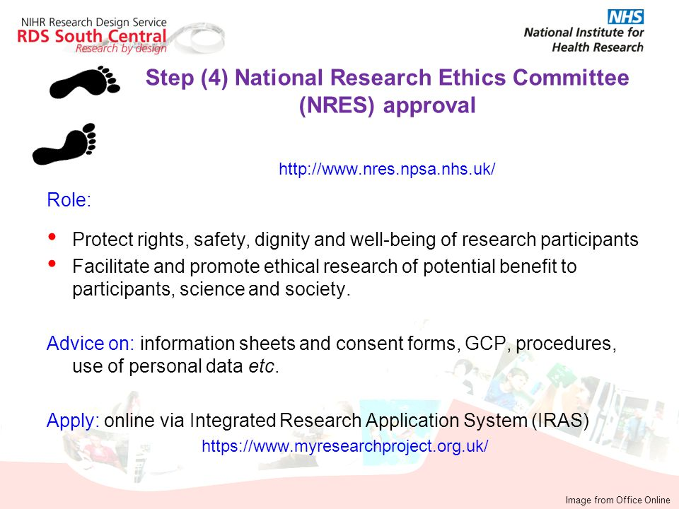 Step (4) National Research Ethics Committee (NRES) approval http://www