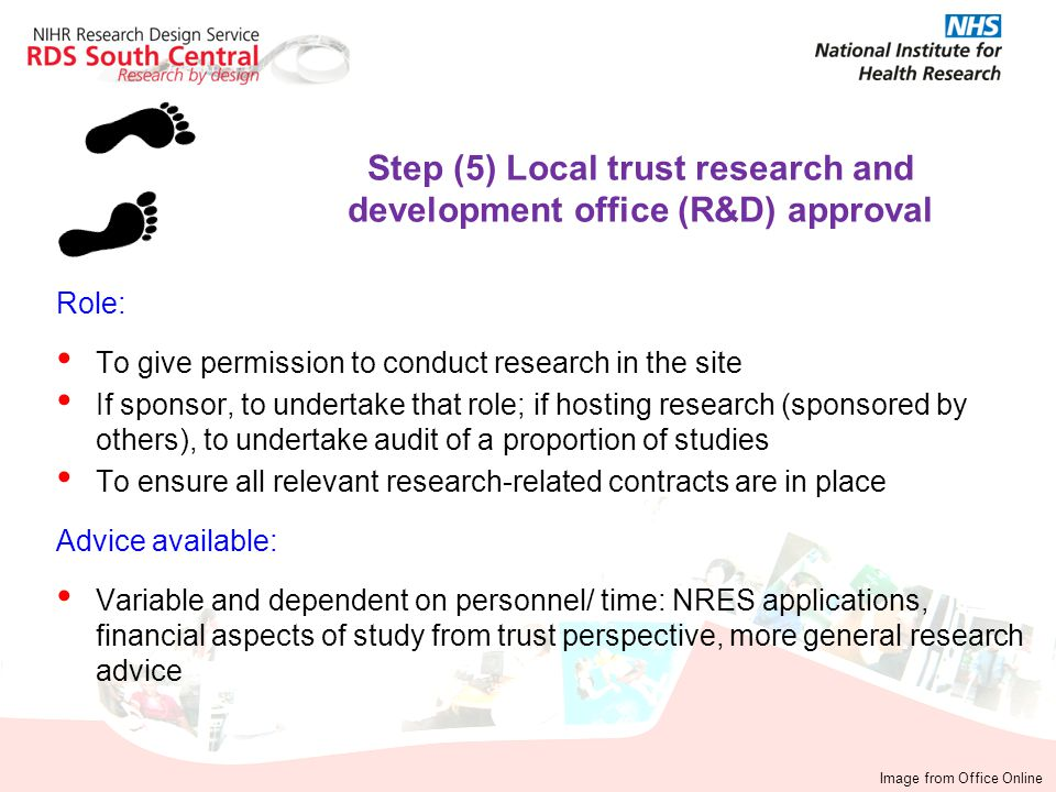 Step (5) Local trust research and development office (R&D) approval