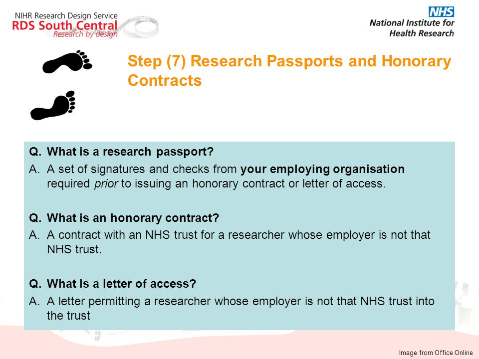 Step (7) Research Passports and Honorary Contracts