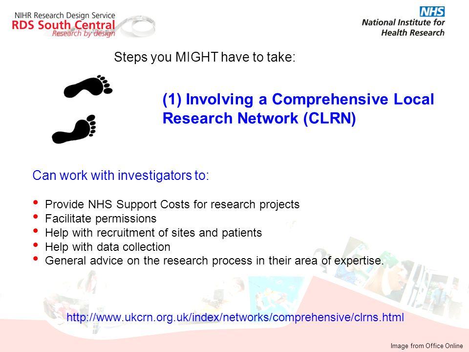 (1) Involving a Comprehensive Local Research Network (CLRN)