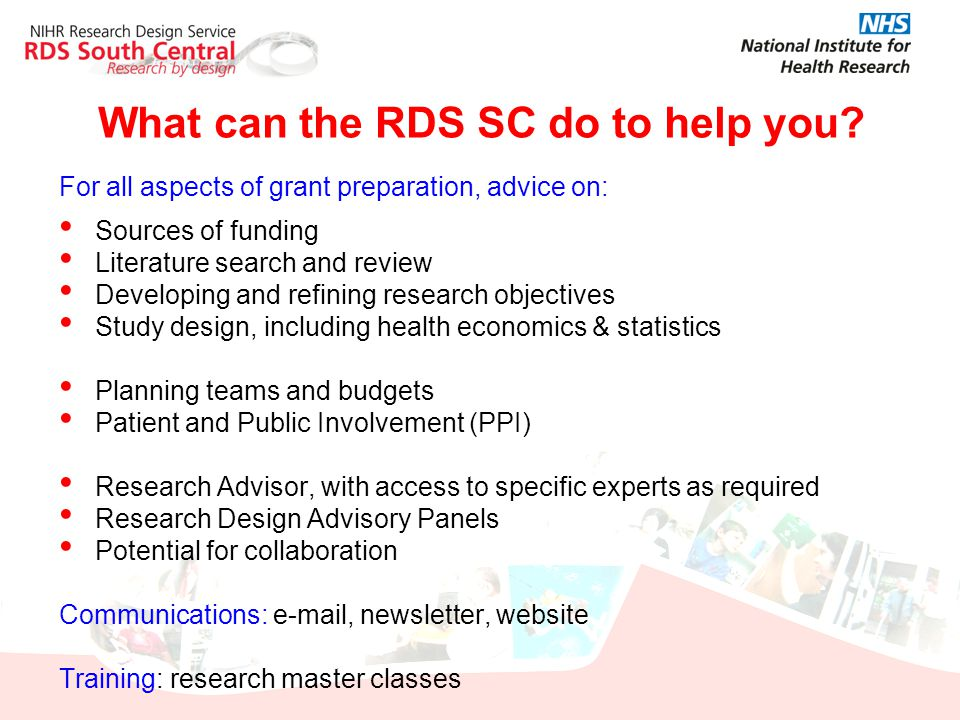 What can the RDS SC do to help you
