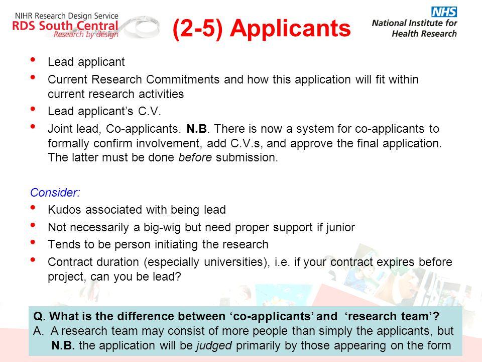 (2-5) Applicants Lead applicant