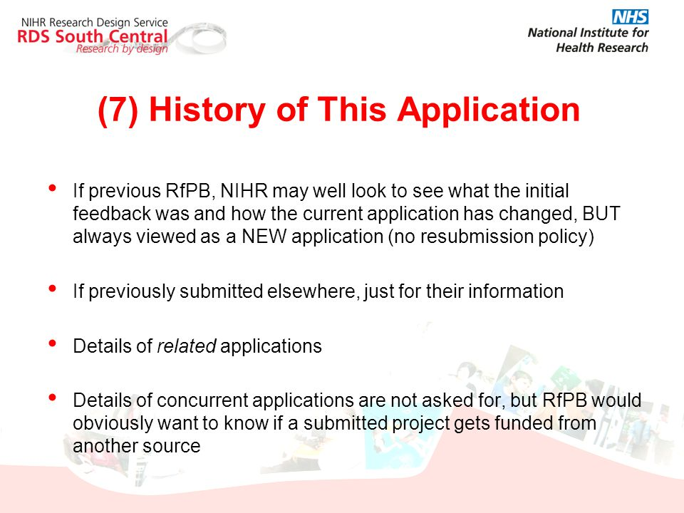 (7) History of This Application