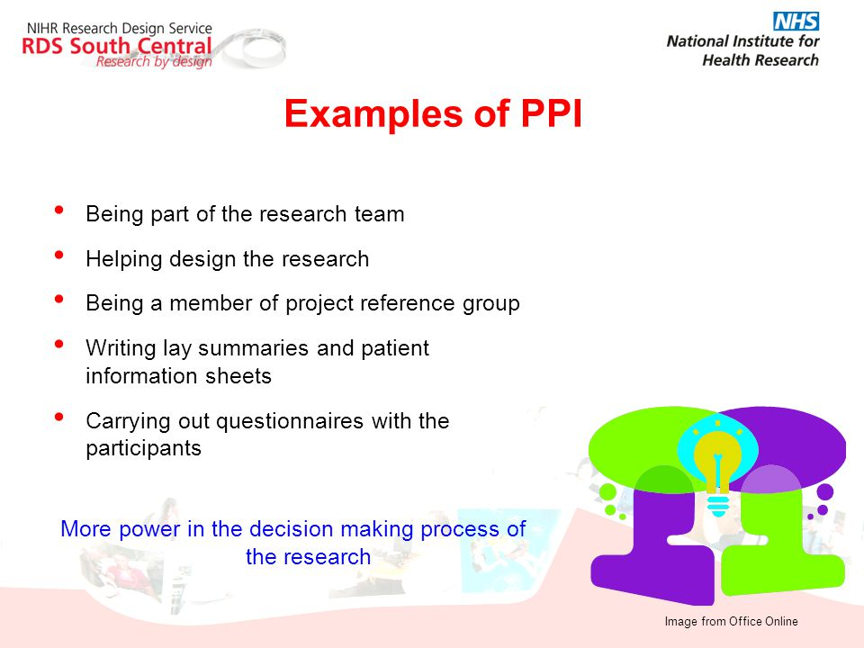 More power in the decision making process of the research