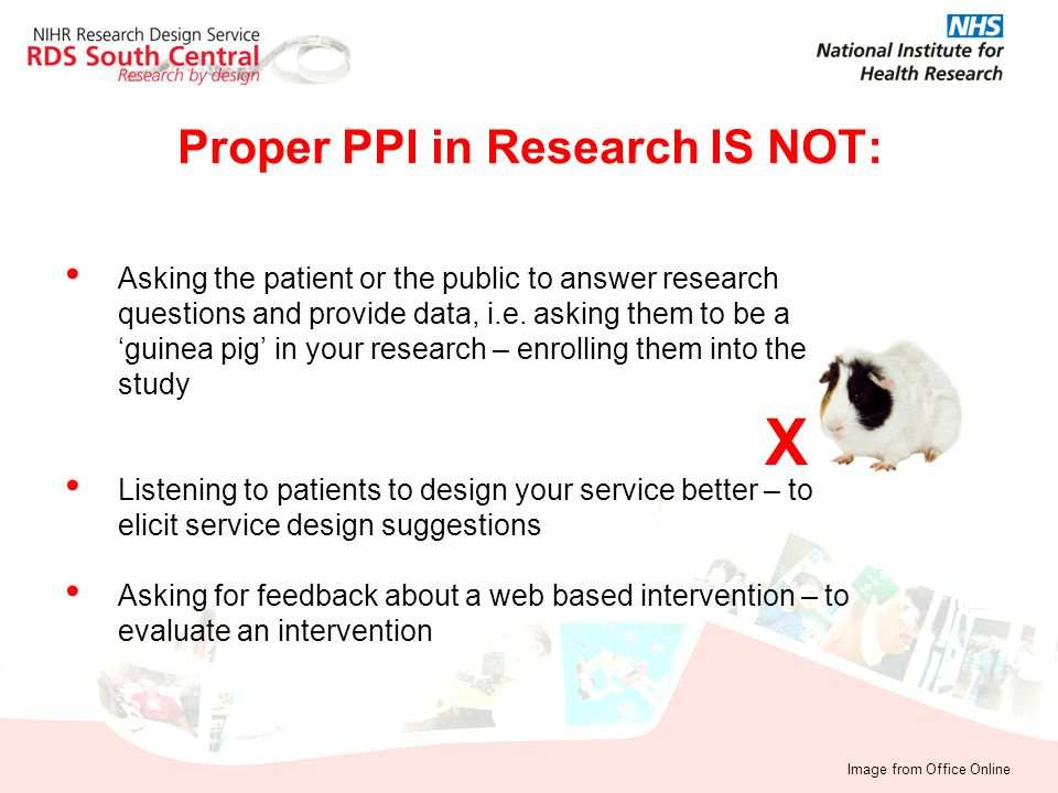 Proper PPI in Research IS NOT: