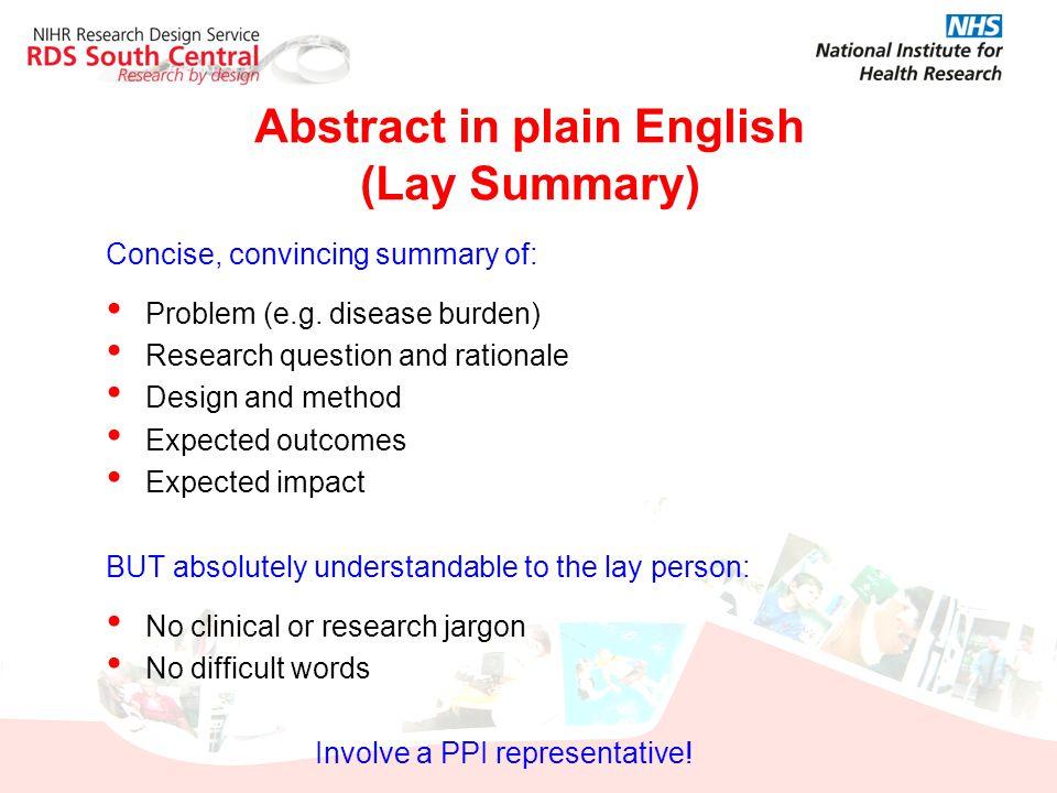 Abstract in plain English (Lay Summary)