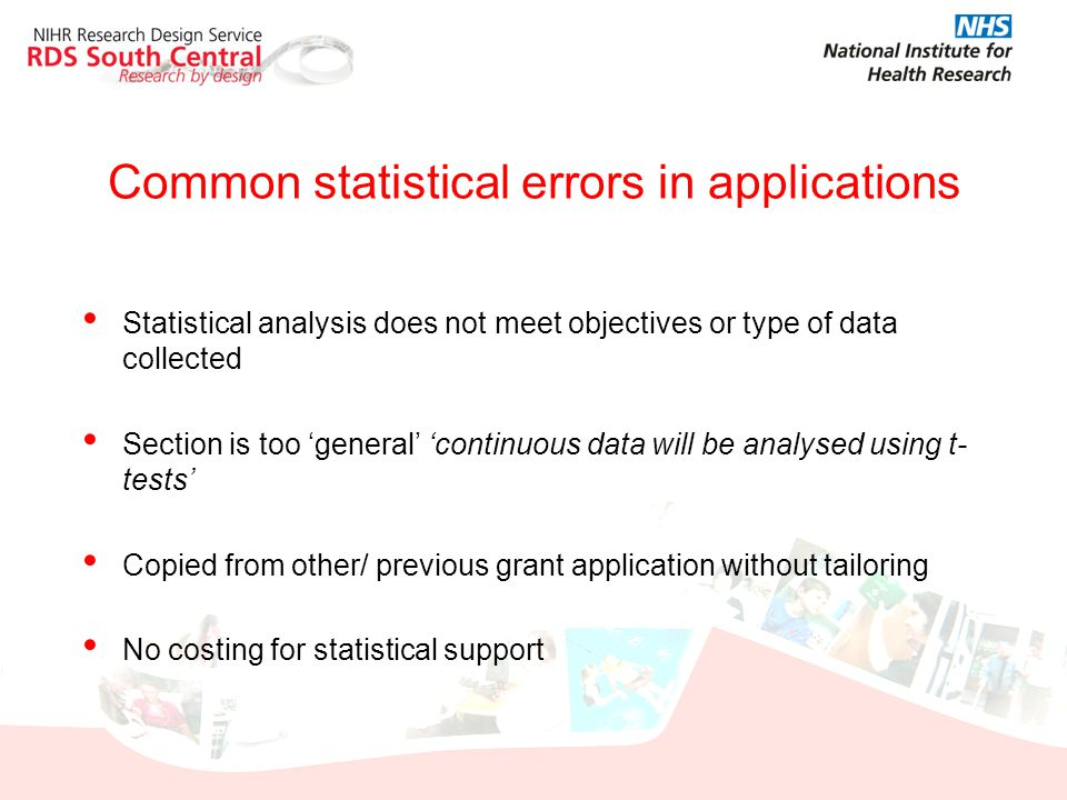 Common statistical errors in applications