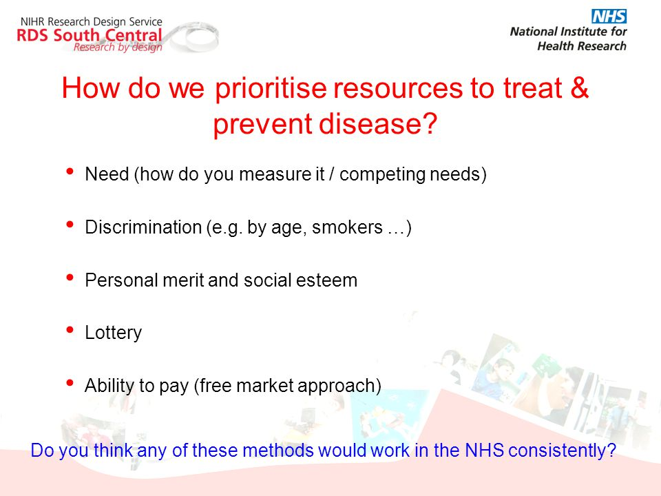 How do we prioritise resources to treat & prevent disease