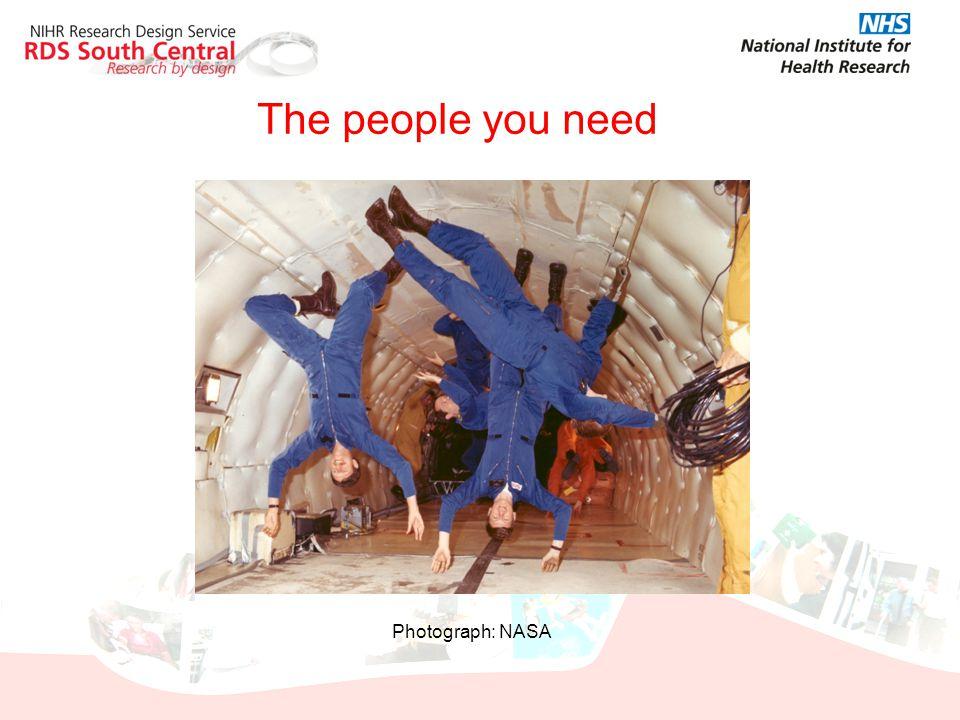 The people you need Photograph: NASA