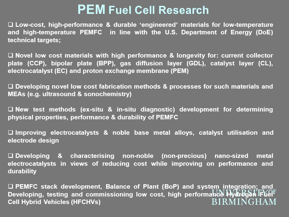 PEM Fuel Cell Research