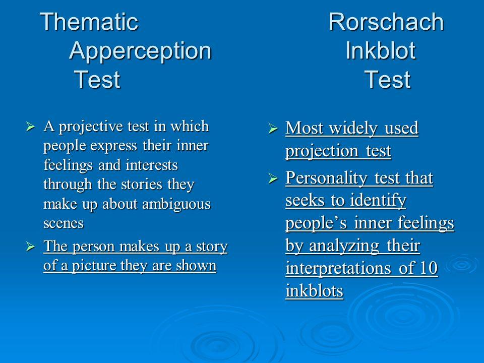 Thematic Rorschach Apperception Inkblot Test Test