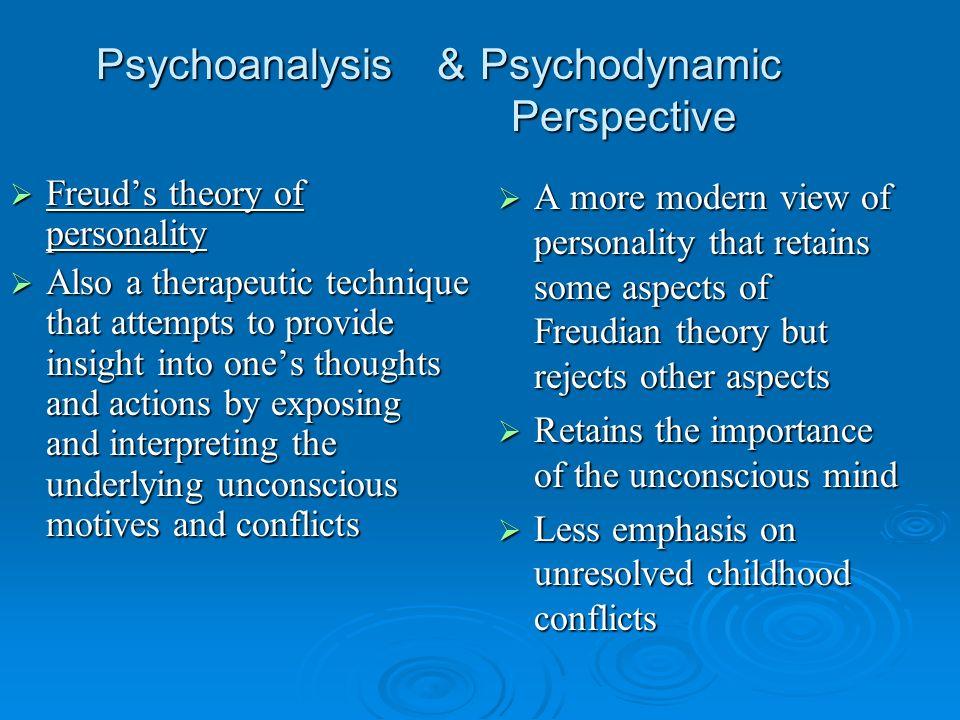 Psychoanalysis & Psychodynamic Perspective