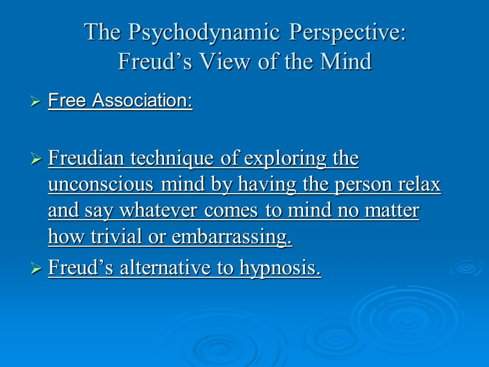 The Psychodynamic Perspective: Freud's View of the Mind