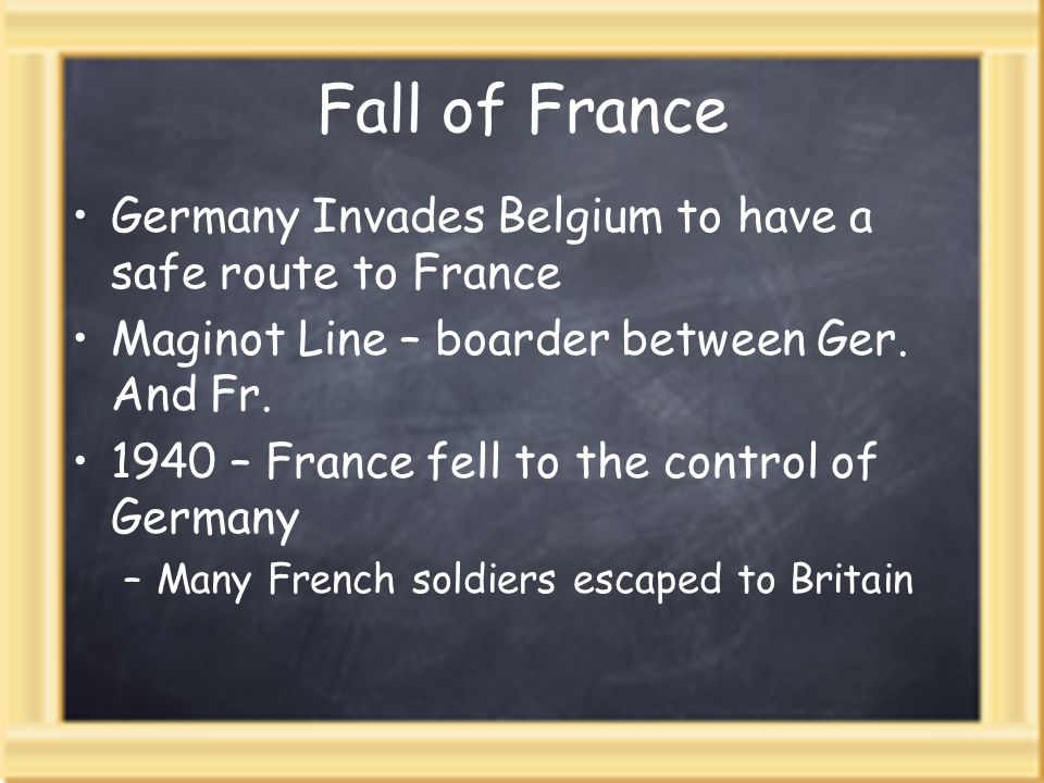 Fall of France Germany Invades Belgium to have a safe route to France