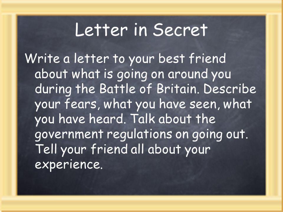 Letter in Secret