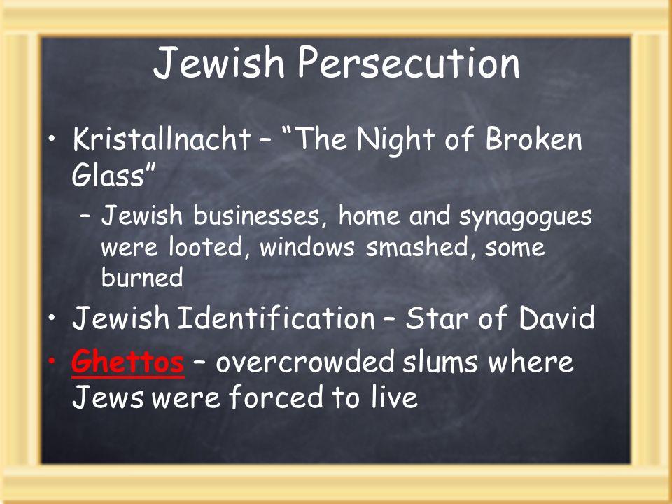 Jewish Persecution Kristallnacht – The Night of Broken Glass