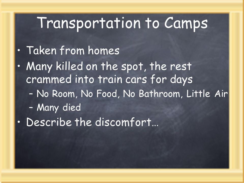 Transportation to Camps