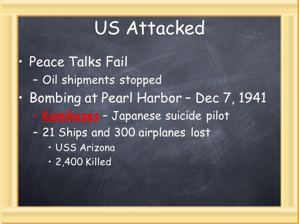 US Attacked Peace Talks Fail Bombing at Pearl Harbor – Dec 7, 1941