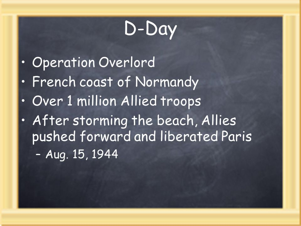 D-Day Operation Overlord French coast of Normandy