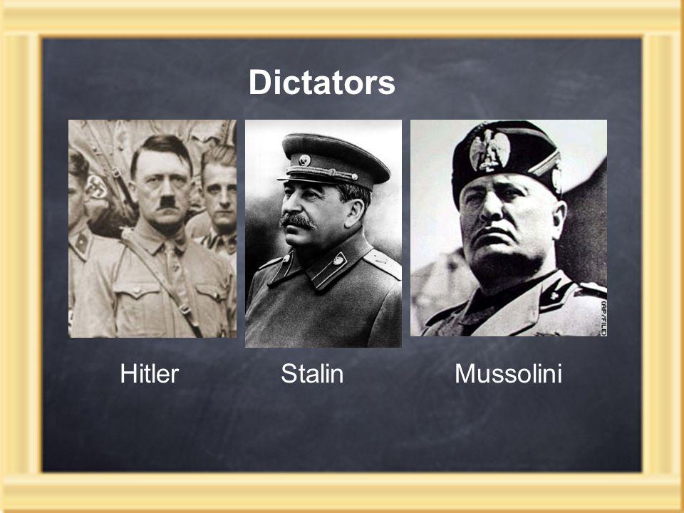 Dictators Hitler Stalin Mussolini