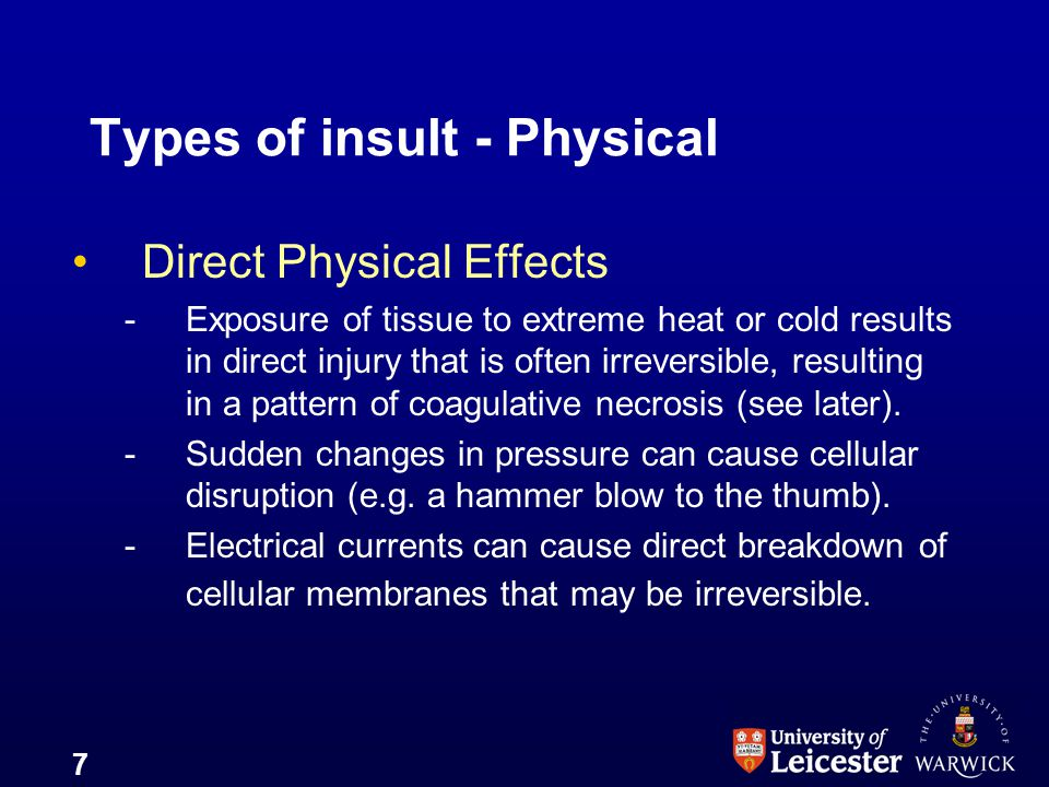Types of insult - Physical