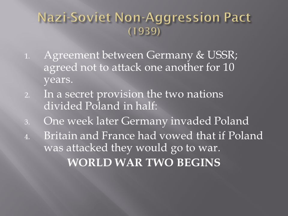 Nazi-Soviet Non-Aggression Pact (1939)