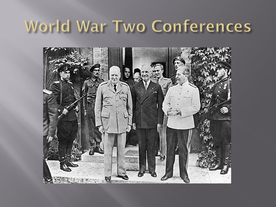 World War Two Conferences