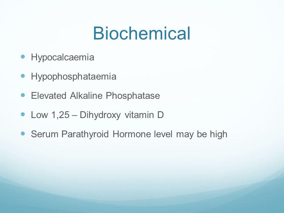 Biochemical Hypocalcaemia Hypophosphataemia